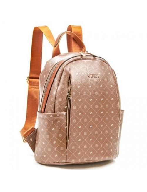 Γυναικεία τσάντα πλάτης Verde 16-6049-Taupe